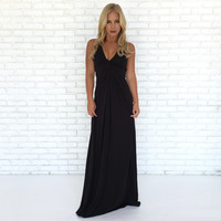 Suma Maxi Dress In Black by SKY