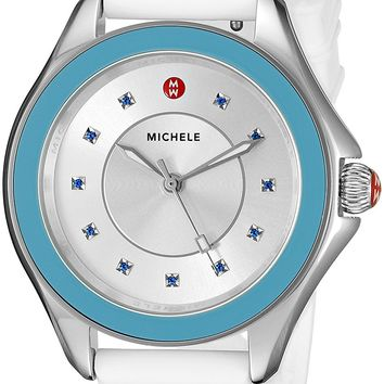 MICHELE Women's MWW27A000010 Cape Analog Display Analog Quartz White Watch