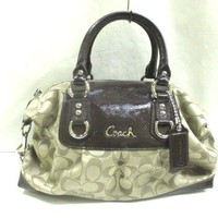 Auth COACH F15443 Khaki DarkBrown