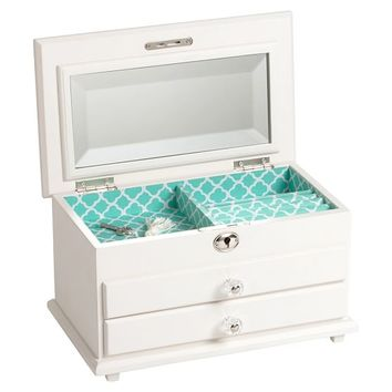 Chloe Jewelry Box, Pool Clover
