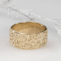 Antique wedding bands women, Wide wedding bands women, Wedding bands women gold, Gold wedding bands, Wide yellow gold wedding band