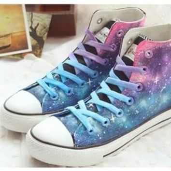 Lilac Gradient High Top Shoes