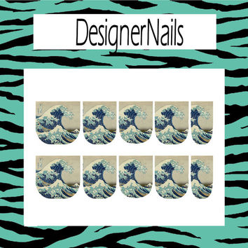 The wave Nail Decal