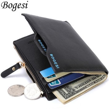 Bogesi Luxury Short Portfolio Clutch Designer Famous Brand Men Wallets Male Bag Cuzdan Purses Walet Sac A Main Pochette Carteras