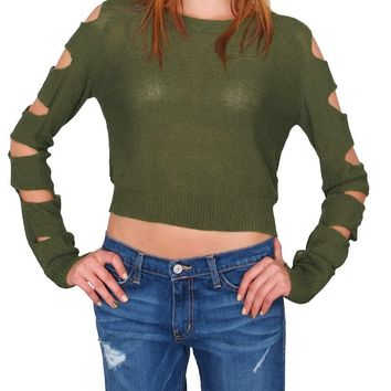 Deadline Sweater Top - Olive