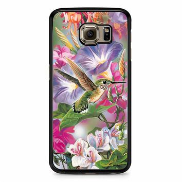 Hummingbirds And Flowers Samsung Galaxy S6 Edge Case