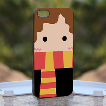 Hermione Granger - Cartoon  Character - Design available for iPhone 4 / 4S and iPhone 5 Case - black, white and clear cases