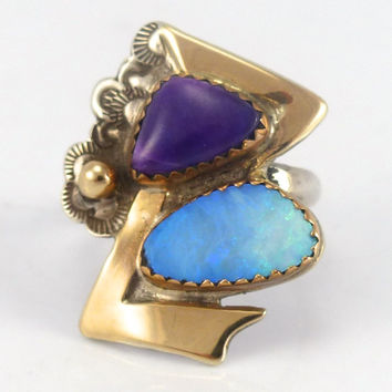 Sugilite and Opal Ring