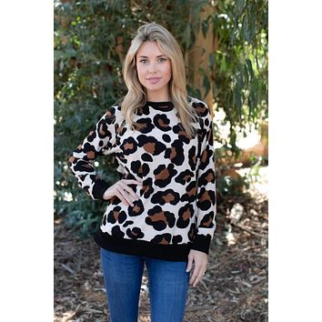Lovely Leopard Lightweight Pullover Sweater