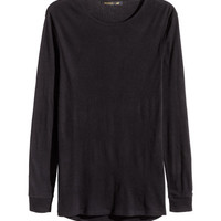 Ribbed T-shirt - from H&M
