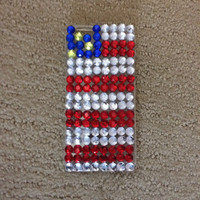 Rhinestone American Flag iPhone 6 Case