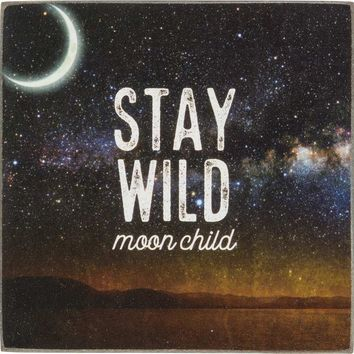 Stay Wild Moon Child Square Magnet