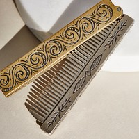 Free People Hand Engraved Comb