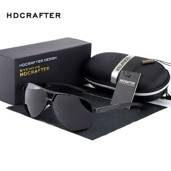 HOT HDCRAFTER 2017 Fashion polarized men sunglasses uv400 men's aviator glasses for driving