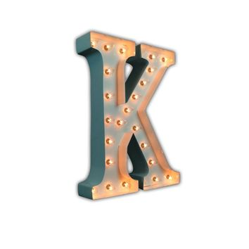 "24"" Letter K Lighted Marquee Letters (White Gloss)"
