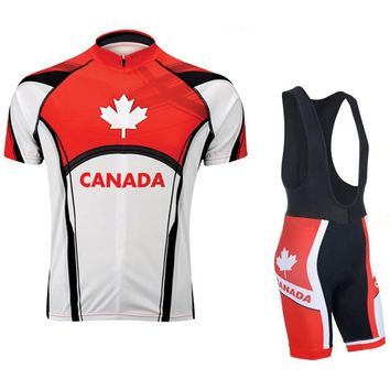 LONG AO Canada/France/USA Cycling Jersey High Quality Polyester Bike Jersey Set Free shipping