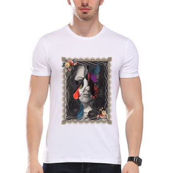 Men's Retro Abstract Art Print T-Shirt  Men Summer