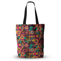 "Louise Machado ""Arabesque Floral"" Bright Colorful Everything Tote Bag"