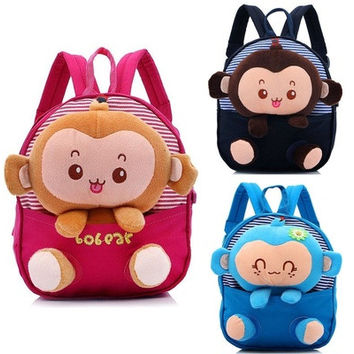 Toddler Kids Baby Children Cartoon Backpack Schoolbag Shoulder School Bags [8081830983]