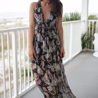 Call On Me Pink And Black Maxi Dress