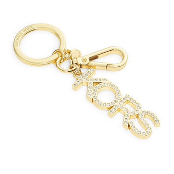MICHAEL KORS Goldtone Keychain with Rhinestones