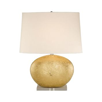 8002 Gold Oval Ceramic Table Lamp
