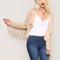 Midnight Special Fringe Jacket - Sand