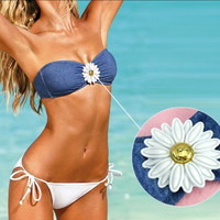 FLOWERS BIKINI SWIMSUIT