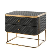 Black Leather Side Table | Eichholtz Monfort