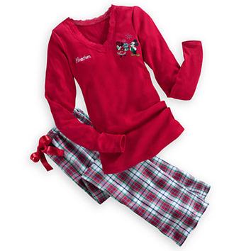 mickey and minnie mouse pajama set for women holiday personalizable - Mickey Mouse Christmas Pajamas
