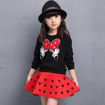 Girl Minnie Mouse 2pc Clothing Set
