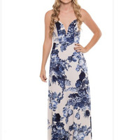 Floating on Air Strapless Floral Maxi Dress