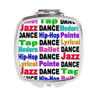 Dance Styles (#2) Square Compact Mirror