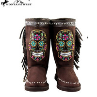 Montana West Sugar Skull Boots