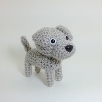 Weimaraner amigurumi Stuffed Animal Crochet Puppy by Inugurumi