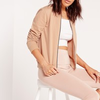 Missguided - Basic Bomber Jacket Nude