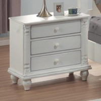 Coaster Home Furnishings Country Nightstand, White