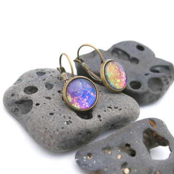West Coast Sunset - Rainbow Earrings - Color Shifting Celestial Earrings - Nail Polish Jewelry Style