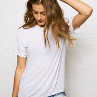 Don't Ask Why Faux Pearl T-Shirt, White