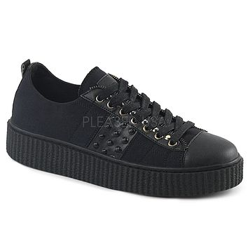 Demonia Side Studded Unisex Creeper Sneakers