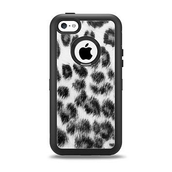 The Real Snow Leopard Hide Apple iPhone 5c Otterbox Defender Case Skin Set