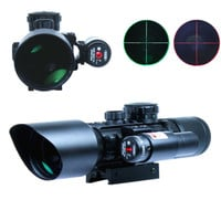 3-10x40 Hunting Riflescopes Tactical Rifle Scope Red Green Mil Dot Laser illuminated w Rail Chasse Airsoft Air Guns Weapon Sight