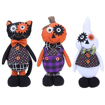 Baby Toys Cartoon Witch Baby Plush Toys Halloween Trick Whimsy Standing Doll Stuffed Toy Cute Bar Party Decor Kids Children Gift
