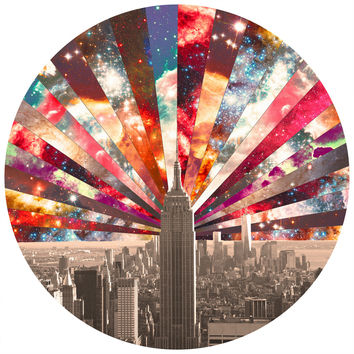 Bianca Green Superstar New York Circle Wall Decal