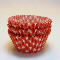 Red Gingham Check Standard Size Cupcake Baking Liner 60 Ct.