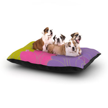 """Nicole Ketchum """"Moroccan Leaves"""" Dog Bed"""
