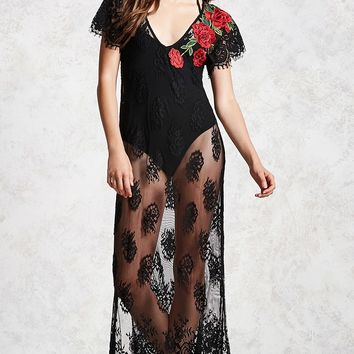 Contemporary Lace Maxi Dress