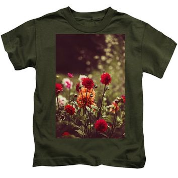 Watercolor Flowers - Kids T-Shirt