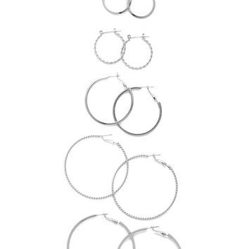 Spiral Hoop Earring Set