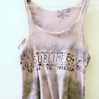 Tie Dye Hand Painted Sublime Tank Top Shirt